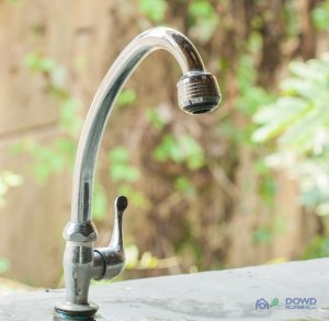 A Silver Kitchen Faucet