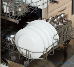 An Open Dishwasher Rack